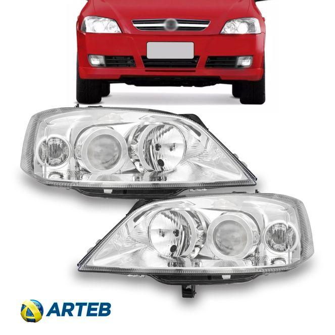 Farol GM Astra 03/11 com Motor de Regulagem Esquerdo Arteb