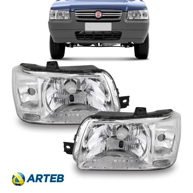 Farol Fiat Uno Fiorino 2004 até 2013 Esquerdo Arteb